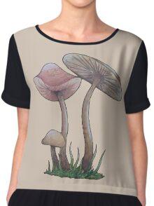 Simple Mushrooms  Chiffon Top