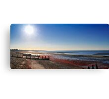 Sunset over Lee-on-Solent, England Canvas Print
