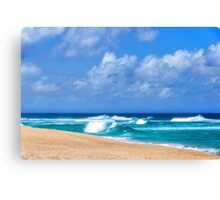 North Shore Turquoise - Impressions of Hawaii  Canvas Print