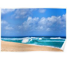 North Shore Turquoise - Impressions of Hawaii  Poster
