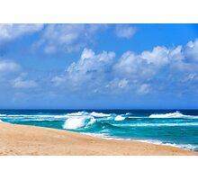 North Shore Turquoise - Impressions of Hawaii  Photographic Print