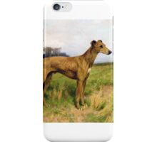 Arthur Wardle - Champion Greyhound Dee Flint iPhone Case/Skin