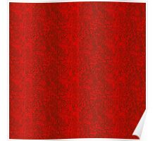 Vibrant ruby red in fire with fine black grey  traces Poster