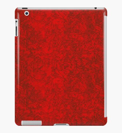 Vibrant ruby red in fire with fine black grey  traces iPad Case/Skin