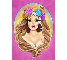 LADY BUTTERFLY Photographic Print