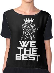 We the best dj khaled black Chiffon Top