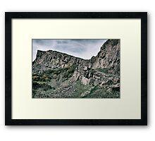 Dark Mountains Framed Print