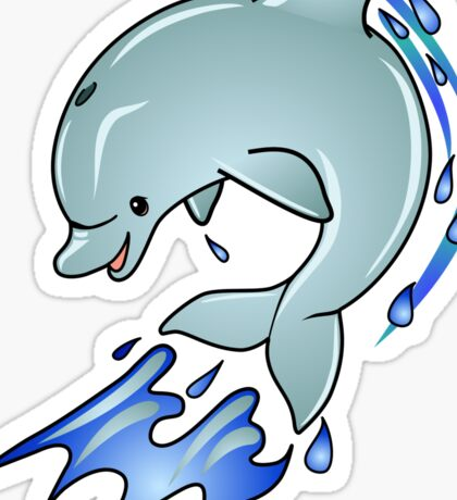 Leaping Dolphin Sticker