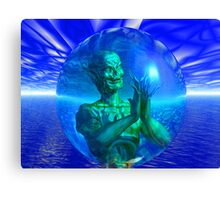 Monster in a Bubble Canvas Print