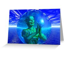 Monster in a Bubble Greeting Card