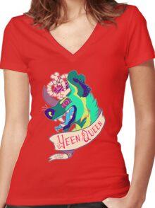Yeen Queen Women's Fitted V-Neck T-Shirt