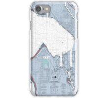 Seattle Harbor Map iPhone Case/Skin