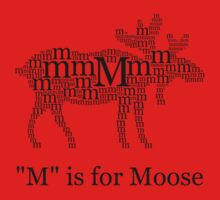 M Is For Moose One Piece - Short Sleeve