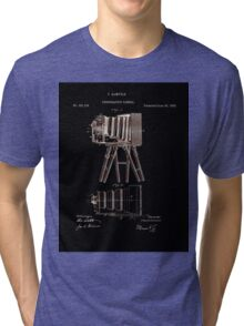 Photographic Camera Patent 1885 Tri-blend T-Shirt