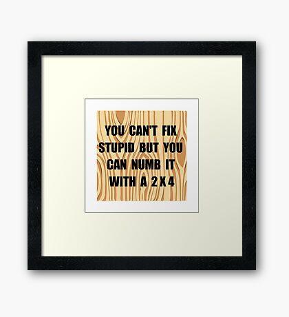 Numb Stupid Framed Print