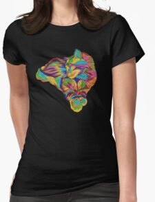 Psychedelic Max Womens Fitted T-Shirt
