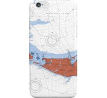 Nantucket Maine Map Art iPhone Case/Skin