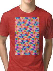 Rectangle of Colorful Triangles Tri-blend T-Shirt