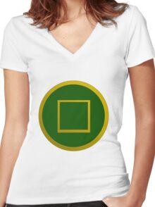 Avatar: Dai Li symbol Women's Fitted V-Neck T-Shirt