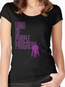 4 Lands - Purple Women's Fitted Scoop T-Shirt
