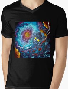Tardis stained glass style  Mens V-Neck T-Shirt