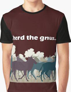 I Herd The Gnus - Light Text Graphic T-Shirt