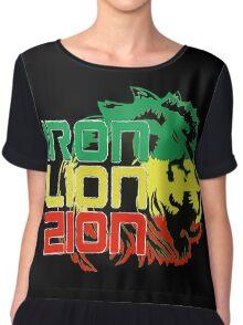 Reggae Rasta Iron, Lion, Zion Chiffon Top