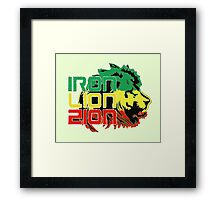Reggae Rasta Iron, Lion, Zion Framed Print