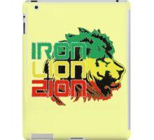 Reggae Rasta Iron, Lion, Zion iPad Case/Skin