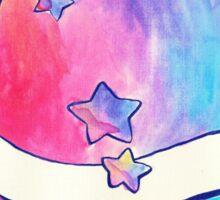 Rainbow Star Turtle Watercolor Sticker