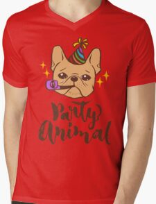 Party Animal Mens V-Neck T-Shirt