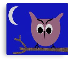 owl in the night Canvas Print