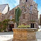 Fountain in the Village of Locronan by Buckwhite