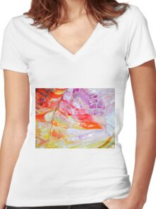 sinful butterfly wings Women's Fitted V-Neck T-Shirt