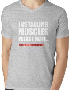 Installing muscles  Mens V-Neck T-Shirt