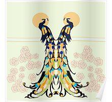 Golden Peacocks Poster