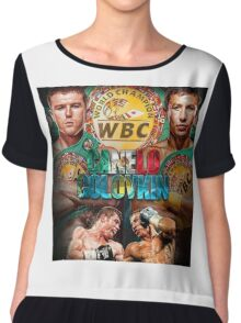 Canelo vs GGG WBC (T-shirt, Phone Case & more) Chiffon Top