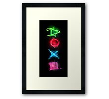 Neon buttons Framed Print