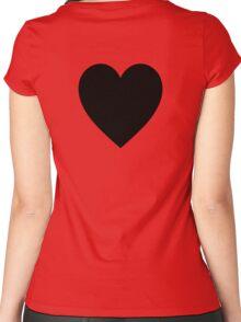 Black Heart, Love Heart, Heart, Treachery, Betrayal, Pure & Simple, on WHITE Women's Fitted Scoop T-Shirt