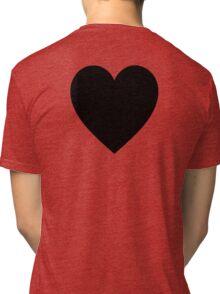 Black Heart, Love Heart, Heart, Treachery, Betrayal, Pure & Simple, on WHITE Tri-blend T-Shirt