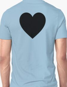 Black Heart, Love Heart, Heart, Treachery, Betrayal, Pure & Simple, on WHITE Unisex T-Shirt