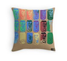 Diet Coke Can IV Throw Pillow