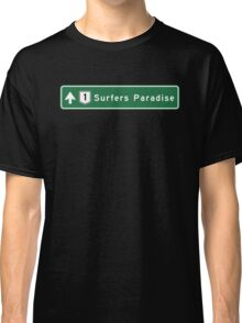 Surfers Paradise, Road Sign, Gold Coast, Australia Classic T-Shirt
