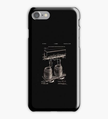 Art Of Brewing Beer Patent iPhone Case/Skin