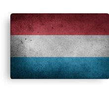 Luxembourg Flag Grunge Canvas Print