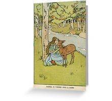 Vintage famous art - Helen Stratton - Hansel And Gretel 1906 Greeting Card