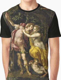 Vintage famous art - Hendrick De Clerck - Venus And Adonis Graphic T-Shirt
