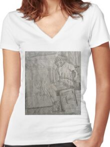 Attack Of The Pack Women's Fitted V-Neck T-Shirt