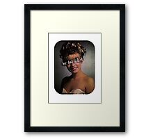 Her dad did it. Framed Print