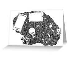Wired brain Greeting Card